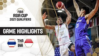 Thailand - Indonesia | Highlights - FIBA Asia Cup 2021 Qualifiers