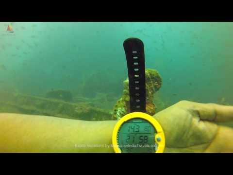 Scuba Diving in India: Shipwreck dive in Indian Ocean; India, Andamans