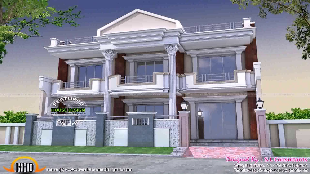 front design of house with balcony