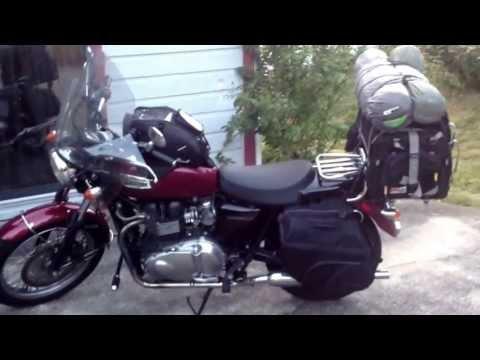 Touring Motorcycle Luggage - Triumph Bonneville Tank Bag, Saddlebags