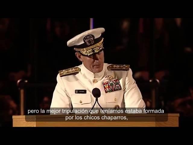 Mensaje de Graduación Almirante Mc Raven    TIENDE TU CAMA