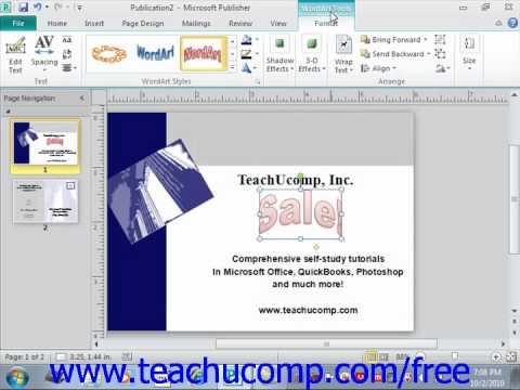 Вопрос: Как сделать дугу Word Art в Microsoft Office Publisher 2020?