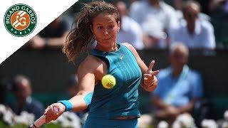 Daria Kasatkina vs Caroline Wozniacki - Round 4 Highlights I Roland-Garros 2018