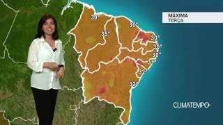 Previsão Nordeste – Chuva no litoral da PB e PE