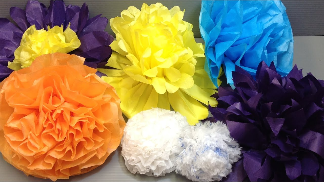 Pretty And Easy Tissue Paper Flowers Origami Youtube