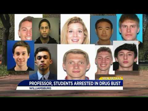 William & Mary students, professor among 10 arrested in Williamsburg drug investigation
