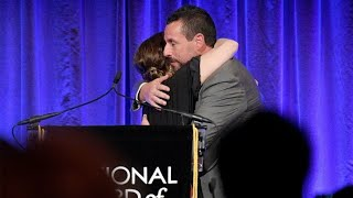 Drew Barrymore Presented Adam Sandler With The Best Actor Honor For His Role In