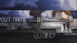 "MINECRAFT ""ARROW"" BANNER TEMPLATE 