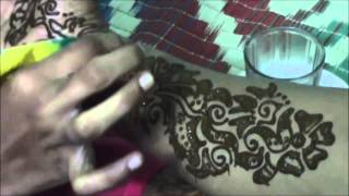 arabic mehndi (henna) - step by step tutorial design 4