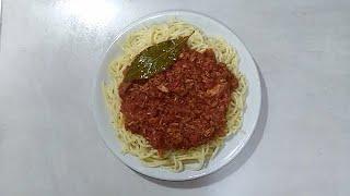 سباغيتي بالتونة سهلة و سريعة جاهزة في 10 د Spaghetti with tuna