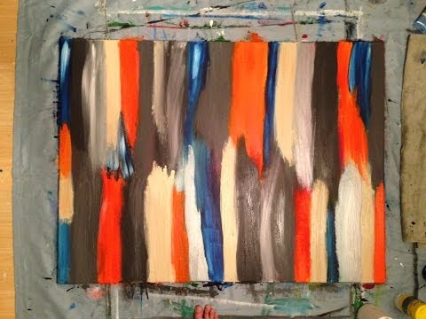 Abstract / Modern Painting #2 Acrylic 3 x 4 DIY how to