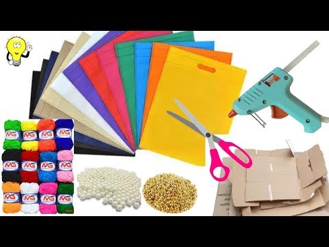 10 Best Out Of Waste Ideas - Craft Ideas With Waste Material - Waste Material Craft