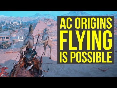 Assassin's Creed Origins Flying IS POSSIBLE With A War Chariot, Not For Everyone (AC Origins Flying)