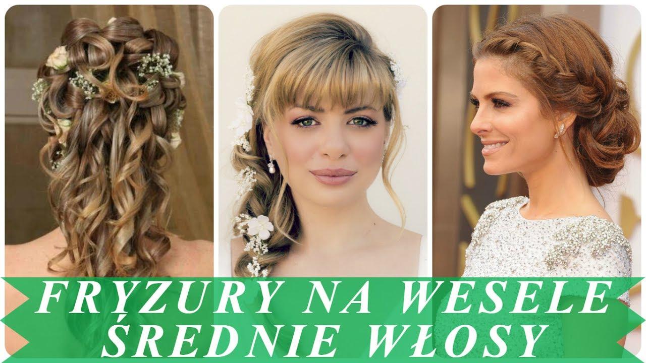 Najlepsze Fryzury ślubne Na średnich Włosach