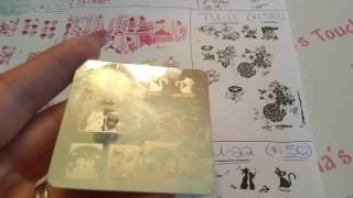 Haul and review stamping plates from AliExpress.com part 2