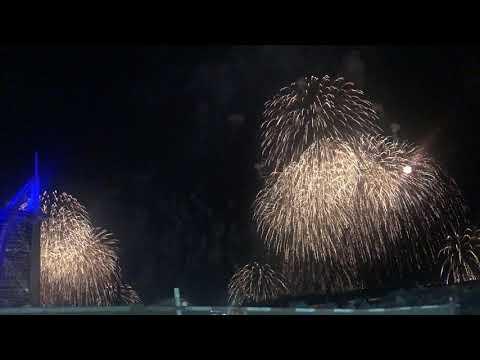 Dubai New year 2020 | Burj al Arab fireworks | kite beach fireworks | Dubai