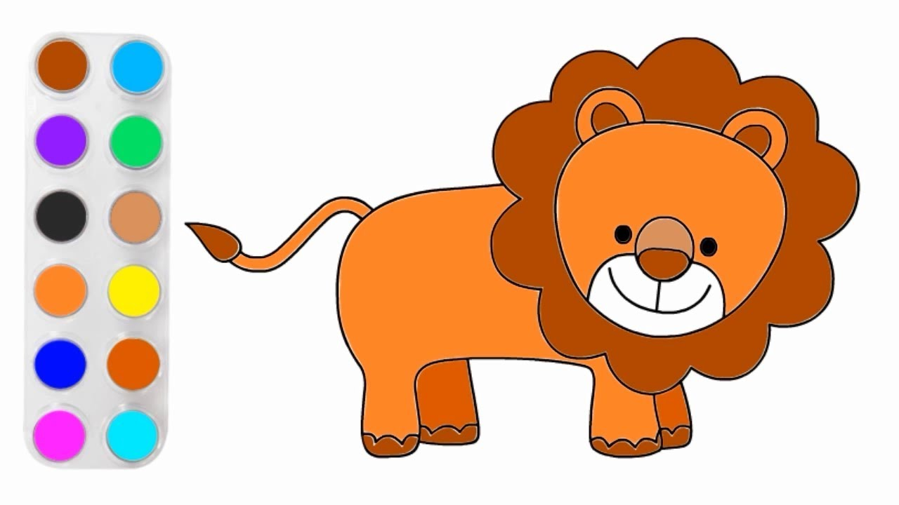 70+ Gambar Mewarnai Kartun Singa Terbaru - Hoganig