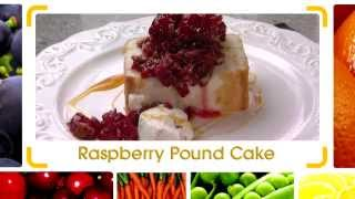 Raspberries With Pound Cake
