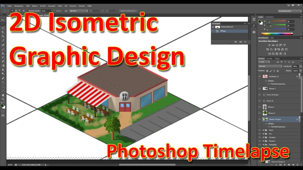 2d Isometric Game Graphic Design Drawing A Restaurant In