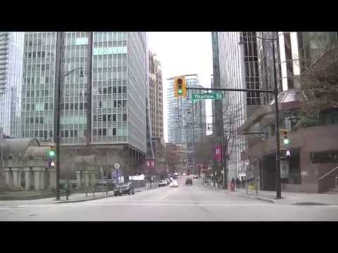 HASTINGS Street West to East - Driving in VANCOUVER BRITISH COLUMBIA CANADA