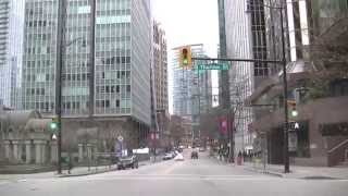 HASTINGS Street West to East - Driving in VANCOUVER BRITISH COLUMBIA CANADA - 2015 HD