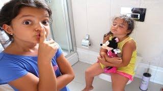 Elif Öykü and Masal Sleeping Hide and Seek Funny Kids Video