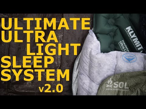 Ultimate Ultralight Sleep System v 2.0