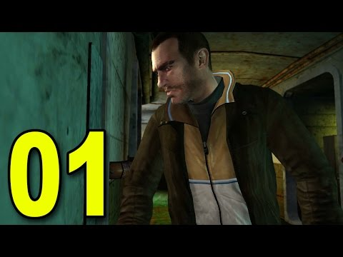 Grand Theft Auto 4 - Part 1 - Welcome to America! (Let's Play / Walkthrough / Guide)
