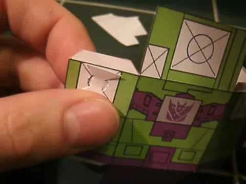 Papercraft Papercraft Poseability: How to create a pivoting joint for arms and necks