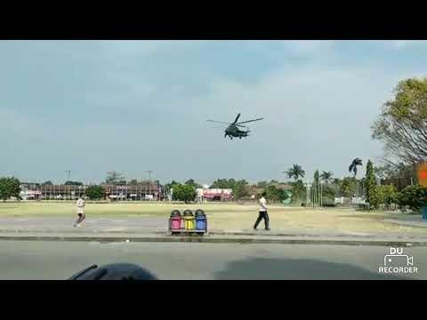 Tiba-tiba ada helikopter di alun-alun mesjid demak