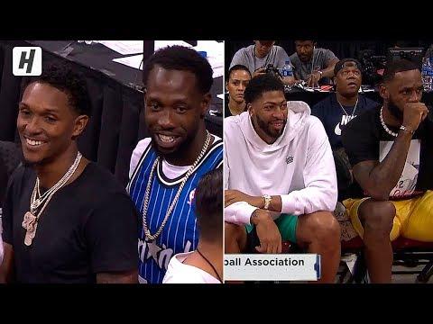 LeBron James, Anthony Davis & Kuzma Meet Patrick Beverley & Lou   2019 Summer League