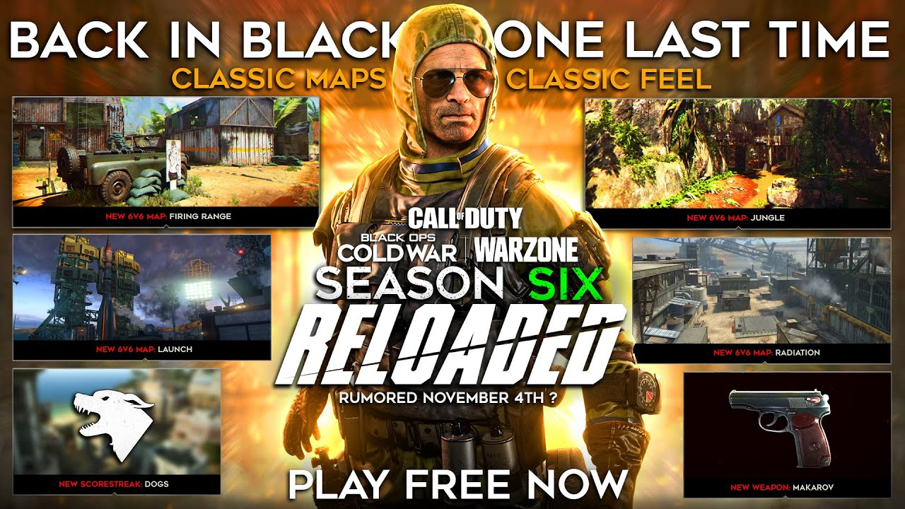 Download Black Ops Cold War Season 6 Reloaded DLC Download Revealed? | Remastered Maps, Dogs & Year 2 Update?