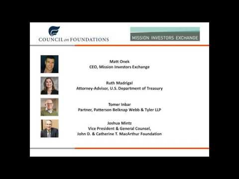 Impact Investing & Private Foundations - New Guidance from the IRS