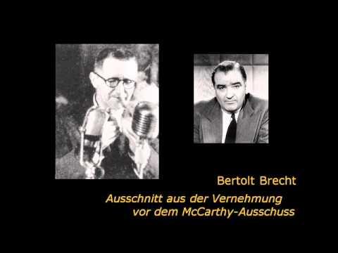 Bertolt Brecht vor dem McCarthy-Ausschuss (USA 1947)