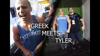 Greekgodx Meets Tyler1 at TwitchCon 2018 And Steals His Girlfriend