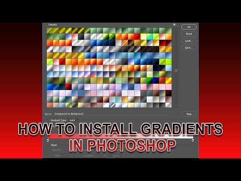 How To Install Gradient In Photoshop