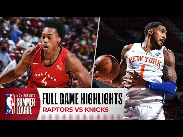 RAPTORS at KNICKS | NBA SUMMER LEAGUE | FULL GAME HIGHLIGHTS