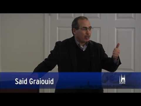 Said Graiouid speaks with Professor Maghraoui's class about the Arab Spring.