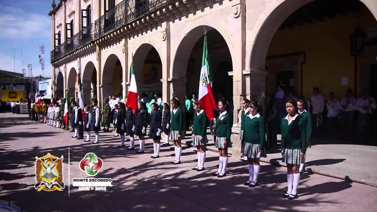 Evento De Honores A La Bandera Previo Al Desfile Del 5 De Mayo En Monte Escobedo You