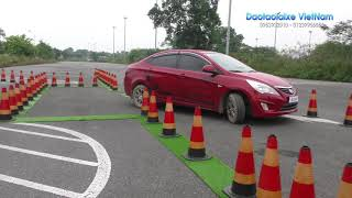 Học lái xe ô tô - Ghép xe ngang vào nơi đỗ (Hạng B2)