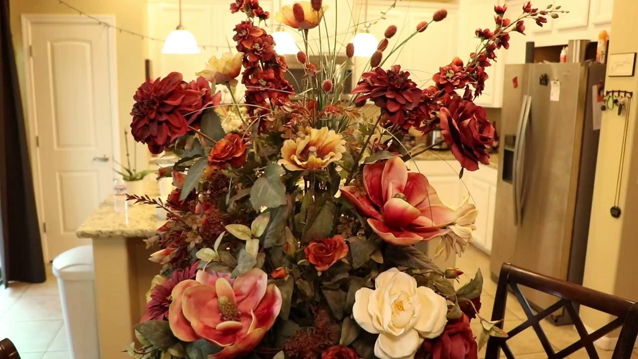 Tuscan Silk Flower Arrangement For Sale Youtube
