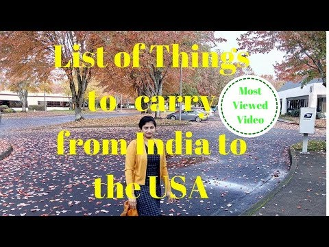 Things you should carry from India to the USA for a Family