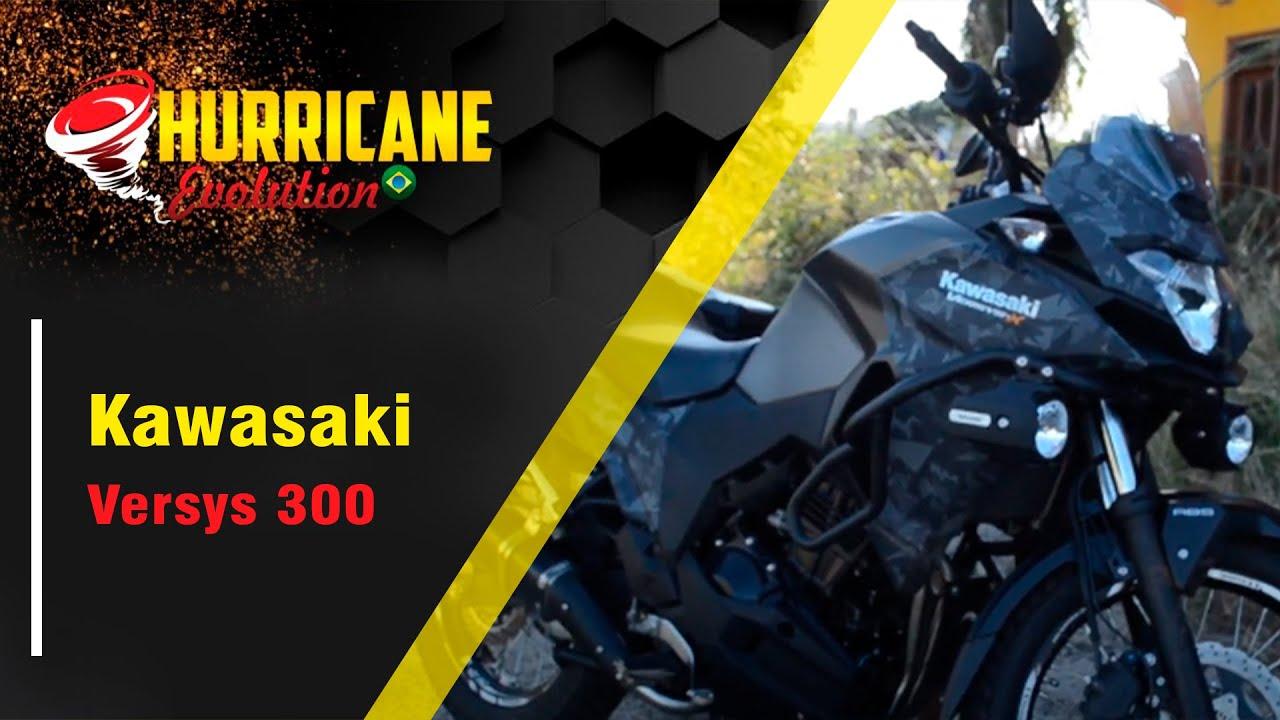 Escapamento hurrricane evolution full completo Kawasaki Versys 300 2018/2020 cod.3037