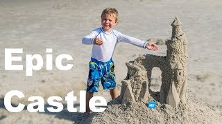 How to Make an Epic Sand Castle with Simple Tools   Our Outer Banks, NC Vacation Project 2018