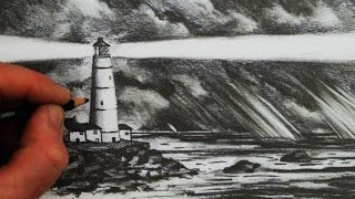 How to Draw a Lighthouse, the Sea and Sky