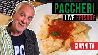 First live recipe: Paccheri