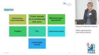 Käytännön kokemuksia ohjeesta - MRSA, hygieniahoitaja Jaana-Marija Lehtinen