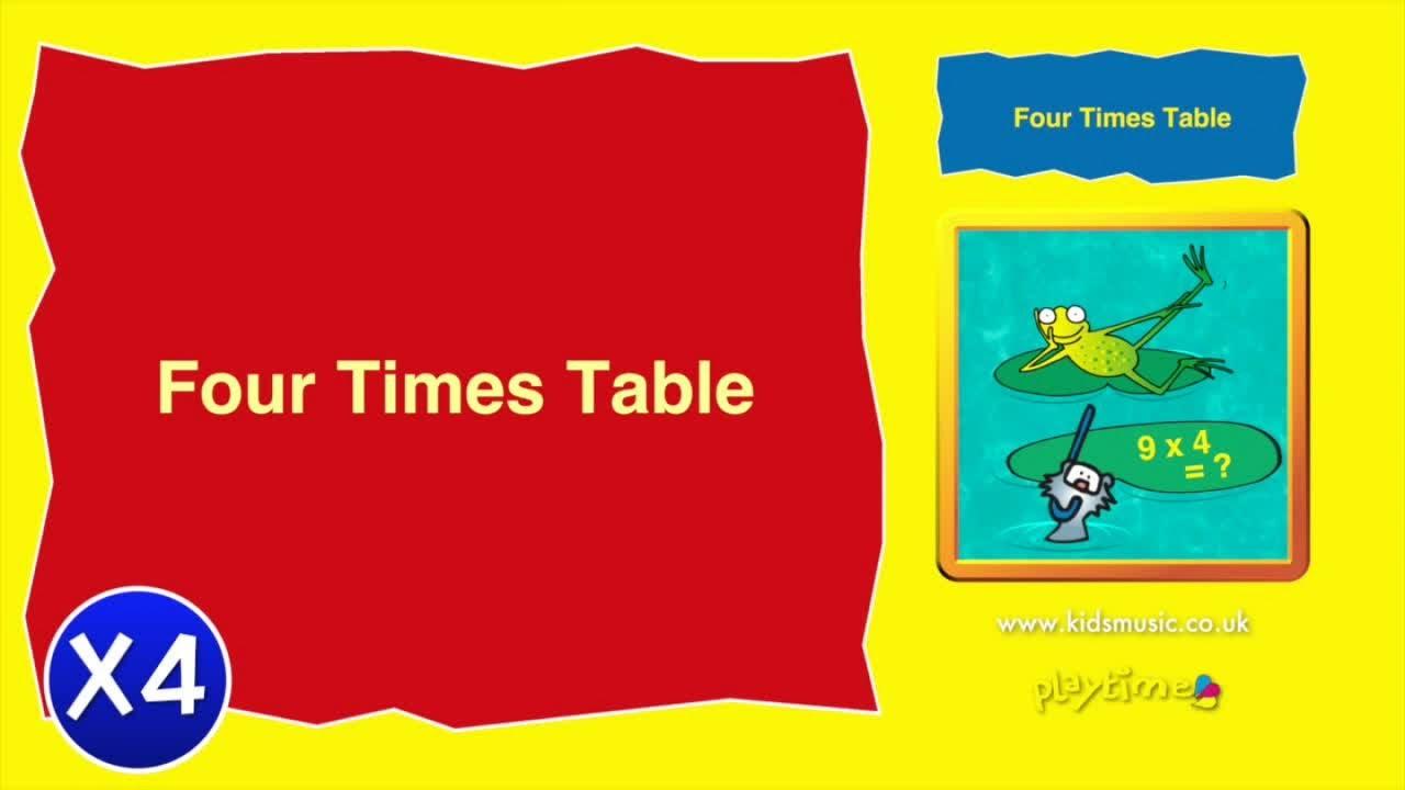 Kidzone Four Times Table