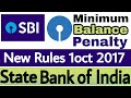 State Bank of India (MAB) New Rules From 1 Oct 2017 || Minimum Account Balance