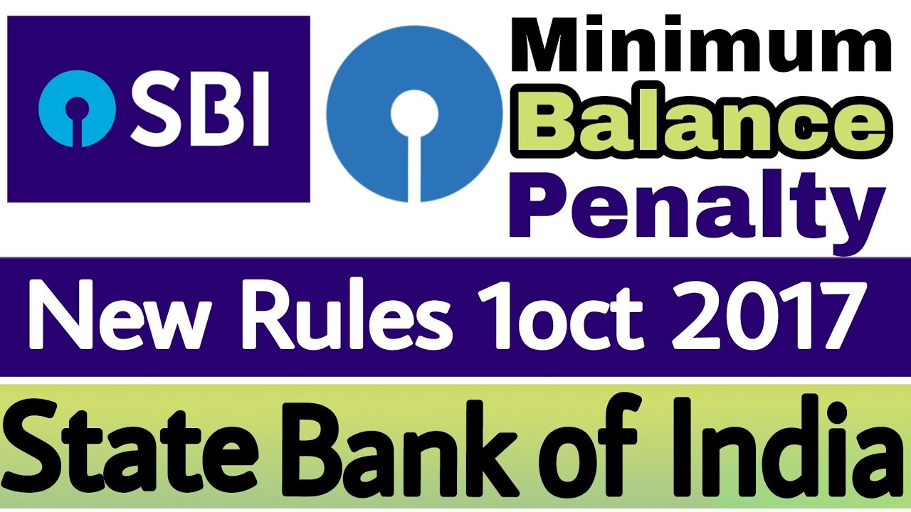 State Bank Of India Mab New Rules From 1 Oct 2017